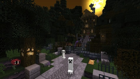 Creepers are reskinned as Ghosts! Download the FREE Halloween texture pack now!