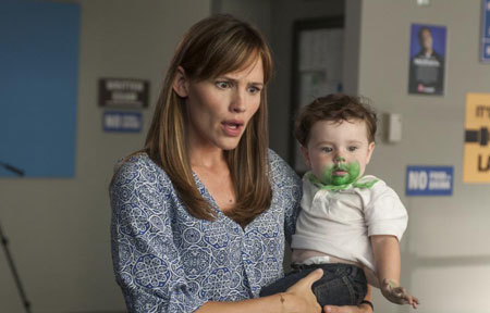 Mom (Jennifer Garner) is freaked at baby's green face