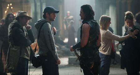 As Vlad, Luke Evans talks with director Gary Shore