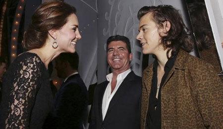 The Duchess of Cambridge meets Harry Styles