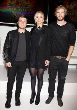 Josh Hutcherson, Jennifer Lawrence and Liam Hemsworth