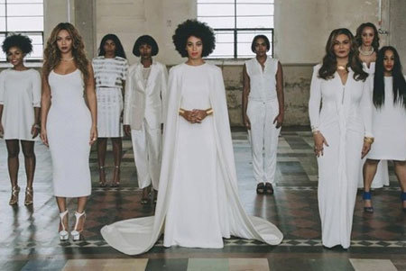 Solange at her wedding with Beyonce, her mother and other guests