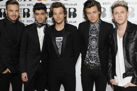 One Direction are staying on top in 2014