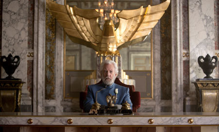 President Snow in his posh offices