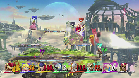 8-Player Smash Bros. It is insanely fun.