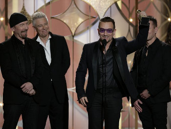U2 frontman Bono accepts Best Original Song