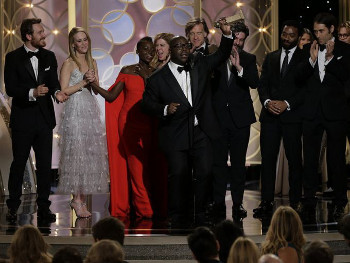 Director Steve McQueen accepts for 12 Years A Slave