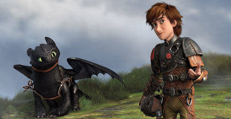 Toothless and Hiccup prepare for a flight