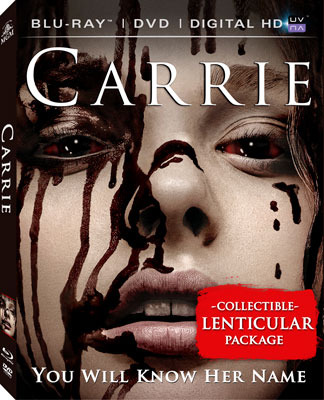 Carrie Blu-ray and DVD Cover