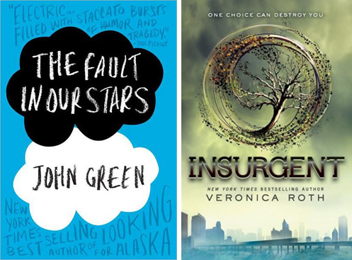 The Fault in our Stars and Insurgent Book Covers