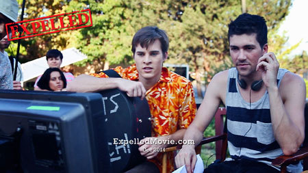 Marcus in video village with director Alex Goyette