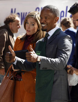 Jamie Foxx as Mr. Stacks campaigning for mayor
