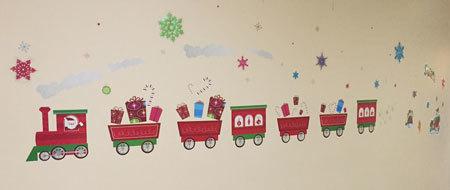 Christmas train at Children's Hospital