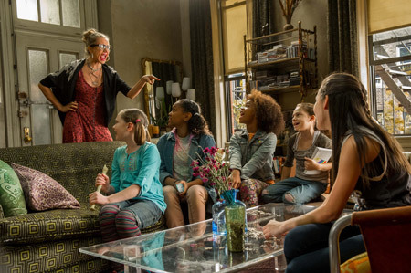Miss Hannigan lectures the girls