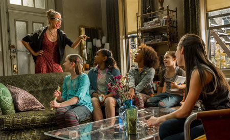 Miss Hannigan (Cameron Diaz) scolds her foster girls