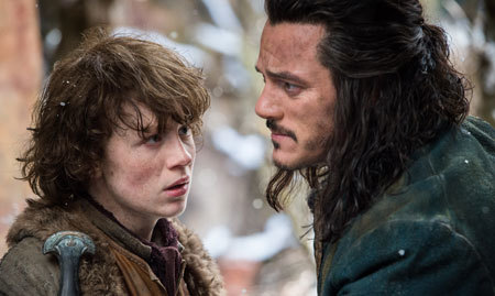 Bard (Luke Evans) with this oldest son