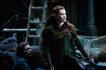 Tauriel (Evangeline Lilly) worries about Kili