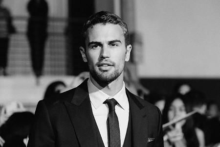 Theo James looks like a classic leading man