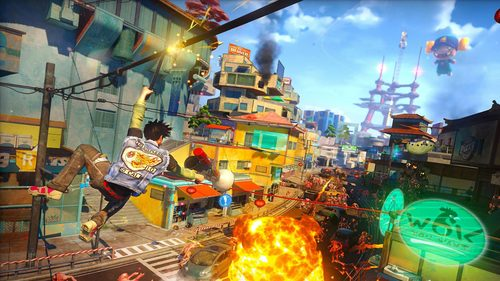 Easily one of the most unique games of the year. Sunset Overdrive!