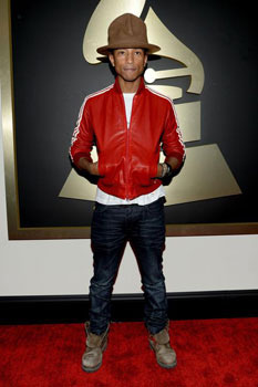 Pharrell's hat landed him on our worst dressed list