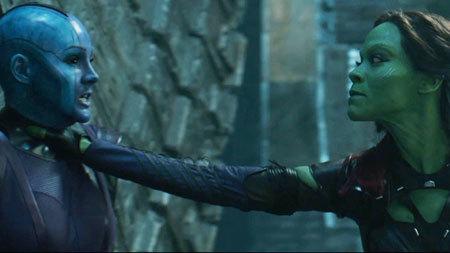Nebula and Gamora square off to fight