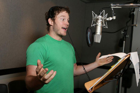 Chris Pratt recording voice of Emmet
