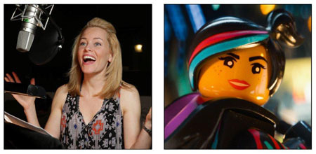 Elizabeth Banks recording voice of WyldStyle