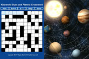 Star and Planets Crossword Puzzle