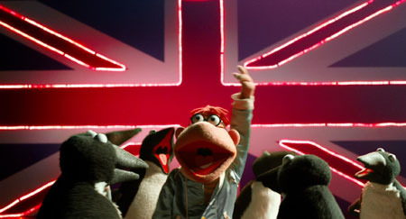 Muppets on tour performing