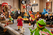 On Set with Muppets Most Wanted