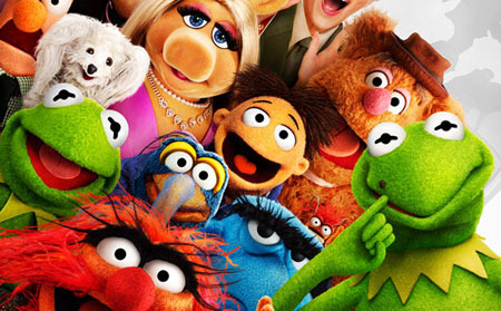 Walter (center) with Muppets and evil Constantine