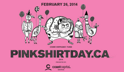 Pink Shirt Day is February 26th, 2014