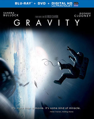 Gravity Blu-ray and DVD Cover Art