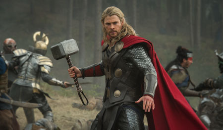 Thor in battle