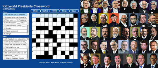 US Presidents Crossword