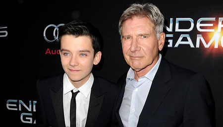 Asa with Harrison Ford at a premiere