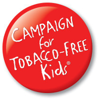 Campaign for Tobacco free kids Button