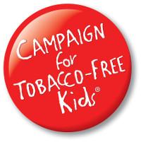 Campaign for Tobacco free kids Button