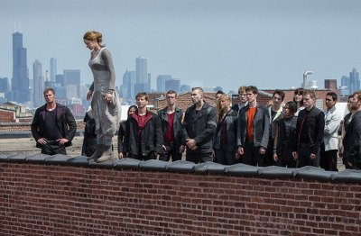 Tris (Shailene Woodley) prepares to take a leap of faith to join Dauntless