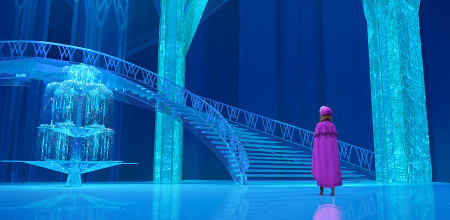 Anna in Elsa's Ice Palace