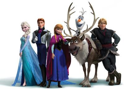 Elsa, Hans, Anna, Sven Olaf and Kristoff