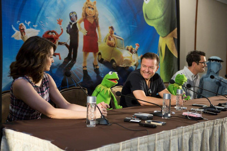 Tina Fey, Kermit, Ricky Gervais, Constantine, Ty Burrell and Sam Eagle at our interview