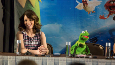 Tina and Kermit at the interview