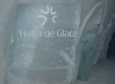 Entrance at the Hotel de Glace