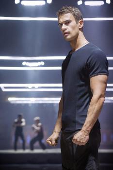 Theo James as Four during Dauntless training