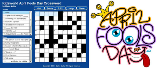 April Fools Day Crossword Puzzle