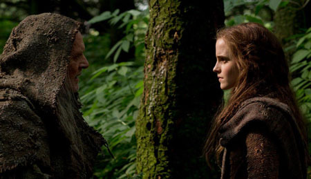 Sir Anthony Hopkins as Methuselah and Emma Watson as Illa