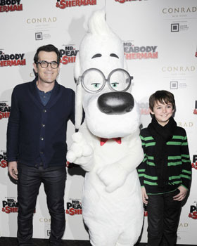Max with Ty Burrell and Mr. Peabody