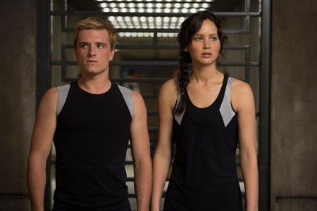 Peeta and Katniss at the training center