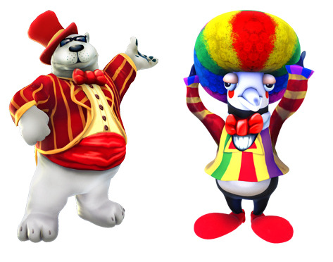 PB and J in Circus Costumes!